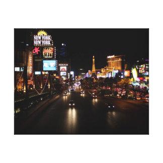 Viva Las Vegas Strip Wrapped Canvas Gallery Wrap Canvas