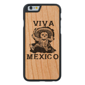 Viva Mexico Day of the Dead Skull Carved® Cherry iPhone 6 Case