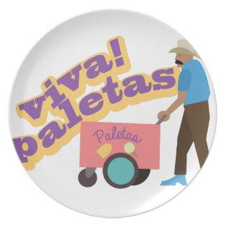 Viva Paletas Party Plates