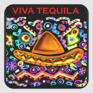 VIVA TEQUILA SQUARE STICKER