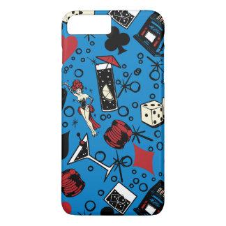 Viva Vegas Casino Retro Gambling Design iPhone 7 Plus Case
