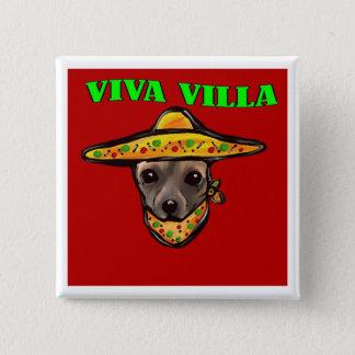 VIVA VILLA 15 CM SQUARE BADGE