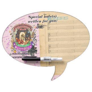 Vivaldeer Deer Animal Composer Vivaldi Spoof Dry Erase Board