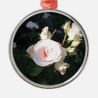 Vivaldi Hybrid Tea Rose Silver-Colored Round Decoration