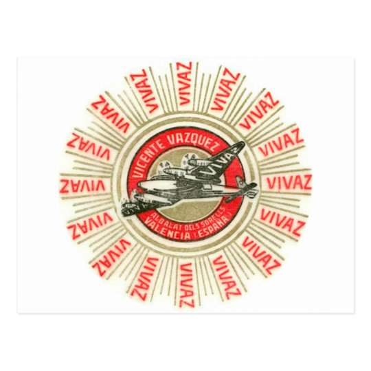 VIVAZ Aeroplane Postcard