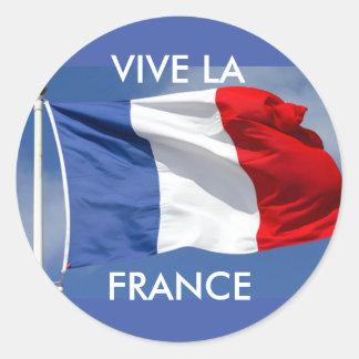 Vive la France! Classic Round Sticker
