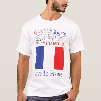 Vive La France French Flag Bastille Day T-Shirt