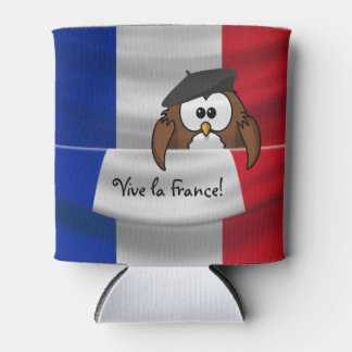 Vive la France owl Can Cooler