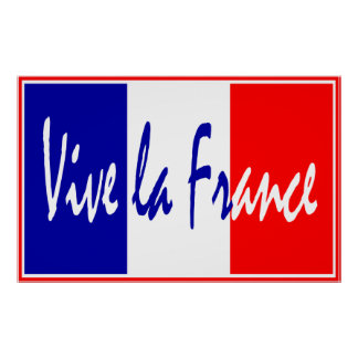 Vive La France Poster, French Restaurant, Sports Poster