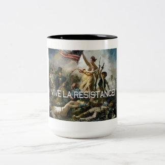 Vive la Resistance! Two-Tone Coffee Mug