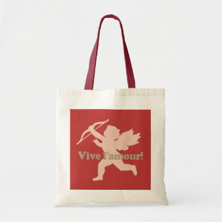 Vive L'amour Cupid tote bags