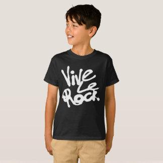 VIVE LE ROCK - Vintage 70s 80s punk rock slogan T-Shirt