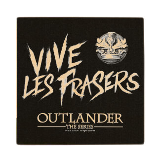 Vive Les Frasers Maple Wood Coaster