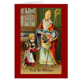 """Vive St. Nicolas"" French Vintage Card"