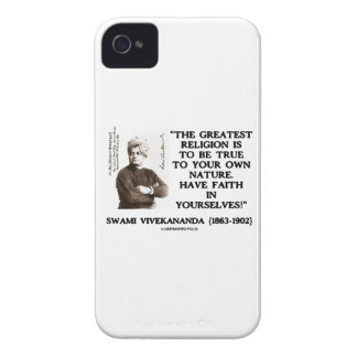Vivekananda Greatest Religion To Be True Your Own iPhone 4 Cover