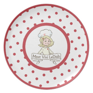 Vivi LeDish™ Polka Dot Plate