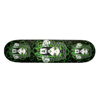 """Vivian"" Green Cybergoth Fairy Skateboard"