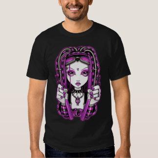 """Vivian"" Pink Cyber Goth Dark Industrial Fairy Top Tshirts"