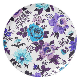 """""""Vivian"""" Wallpaper (Blue) Dinner Plate"""