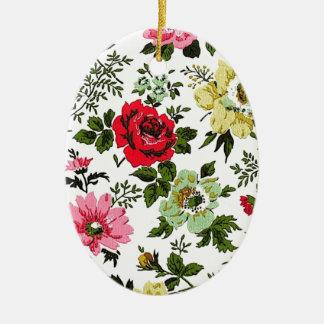 """Vivian"" Wallpaper (Red) Ceramic Oval Decoration"