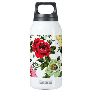 """Vivian"" Wallpaper (Red) Insulated Water Bottle"