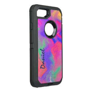 Vivid Abstract Color OtterBox Defender iPhone 7 Case