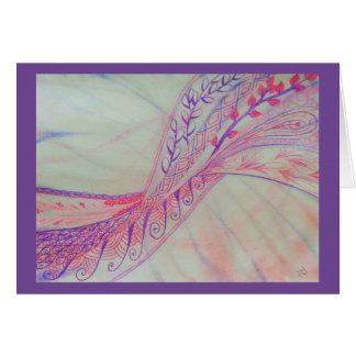 Vivid abstract mixed media greeting card