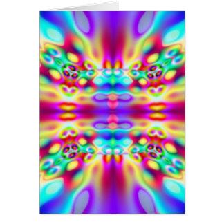 Vivid Abstract Rainbow Convergence Greeting Card