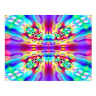 Vivid Abstract Rainbow Convergence Postcards