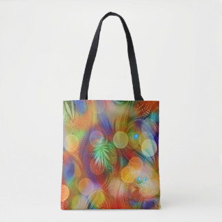 VIVID ABSTRACT TOTE BAG