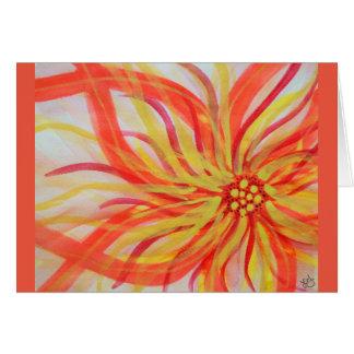 Vivid abstract watercolor floral greeting card