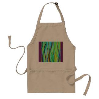 Vivid, abstract, watercolor grasses standard apron