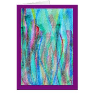 Vivid abstract watercolor greeting card