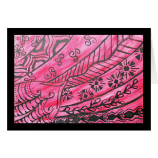 Vivid abstract watercolor, red and black graphic card