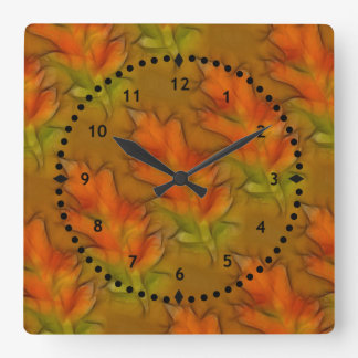Vivid Autumn Leaves Wall Clock