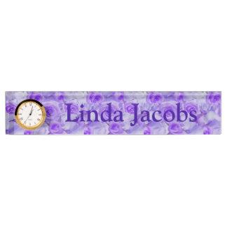 Vivid Beautiful Lavender Roses Name Plate