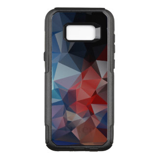 Vivid Blue Red Abstract Pyramid Pattern OtterBox Commuter Samsung Galaxy S8+ Case