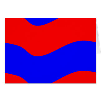 Vivid Bold Waves of Red and Blue Stripes Greeting Card