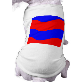Vivid Bold Waves of Red and Blue Stripes Sleeveless Dog Shirt