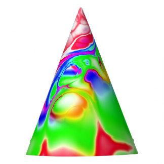 Vivid bright fractal 2 party hat