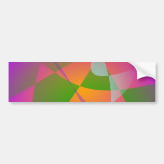 Vivid Color Digital Abstract Painting Bumper Stickers