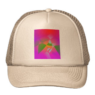 Vivid Color Digital Abstract Painting Trucker Hat