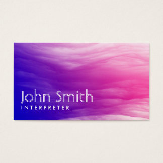 Vivid Colorful Clouds Interpreter Business Card