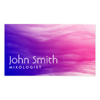 Vivid Colorful Clouds Mixologist Business Card