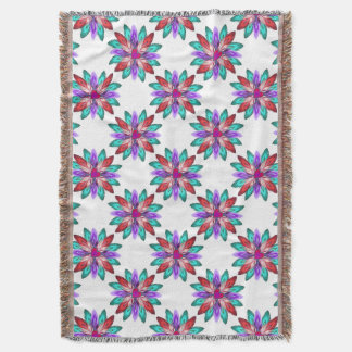 Vivid Colorful Feathers Throw Blanket