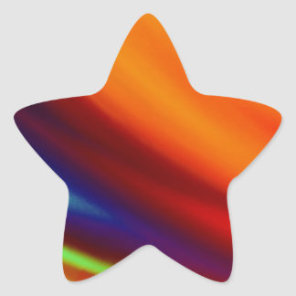 """Vivid Colorful Modern """"Abstract Colors II"""" Star Sticker"""
