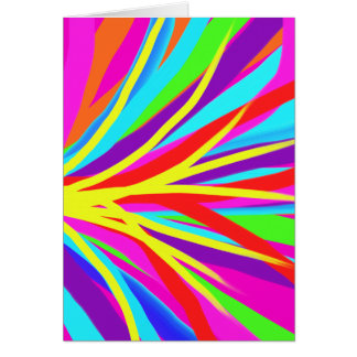 Vivid Colorful Paint Brush Strokes Girly Art Greeting Card