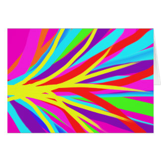 Vivid Colorful Paint Brush Strokes Girly Art Note Card