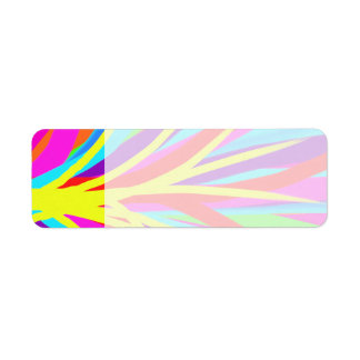 Vivid Colorful Paint Brush Strokes Girly Art Return Address Label