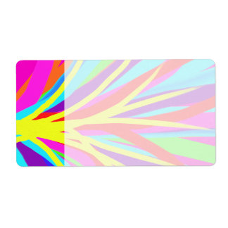 Vivid Colorful Paint Brush Strokes Girly Art Shipping Label